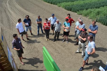 Farmers visit at Organic Field day