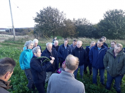 Professor Christine Watson from SRUC talks with local farmers about roots and soils